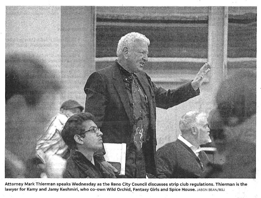 Mark Thierman in Court